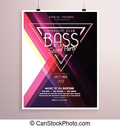 creative music party flyer poster event invitation template