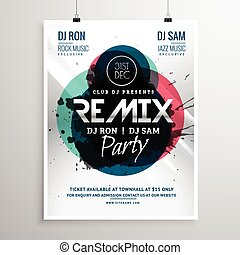 remix club party flyer poster template