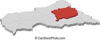 Map - Central African Republic, Haute-Kotto -...