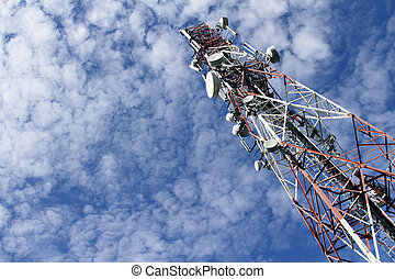 Telecommunications tower - A telecommunications tower with...