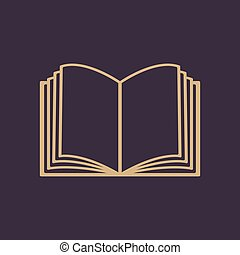 The open book icon. Manual and tutorial, instruction symbol. Flat