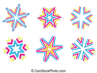 star shapes - Vector illustration of design elements Set of...