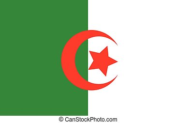 original and simple Algeria flag isolated vector in official...