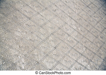 the legnano lombardy italy pavement of a curch and marble -...