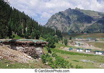 Nomadic village in Kashmir, India - Nomadic village in...
