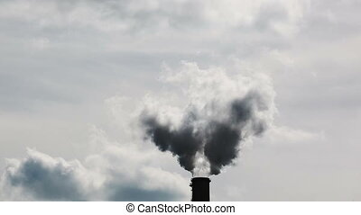Industrial Smoke Stack - Smoke Emitting From Factory Smoke...