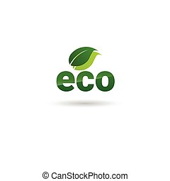 Eco Friendly Organic Natural Product Web Icon Green Logo...