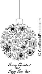 Christmas Ball - vector Christmas snowflake ball
