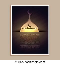 islamic ramadan and eid festival greeting flyer