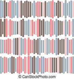 Seamless pattern of stripes on a white background.