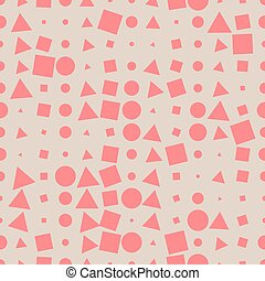 Seamless pattern of geometric shapes on a dark background.
