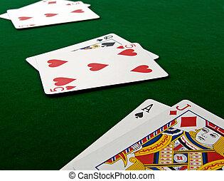 playing cards - playing  Blackjack