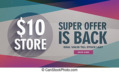 super offer sale discount banner advertisement