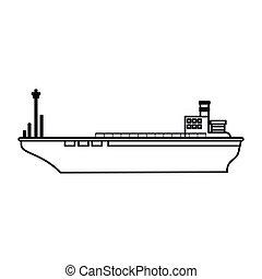 Isolated cargo ship design - cargo ship icon. sea...