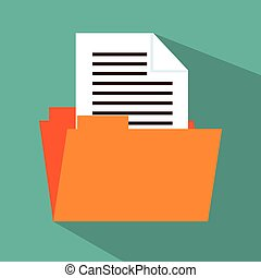 folder file document icon design