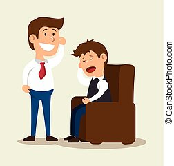 patient mental counseling therapy vector illustration eps 10