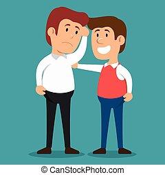 men problem solving psychology design vector illustration...