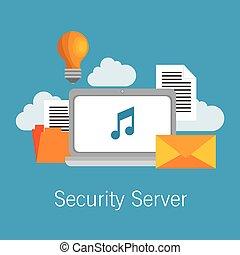 security server computer cloud documents idea
