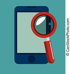 smartphone search data security icon