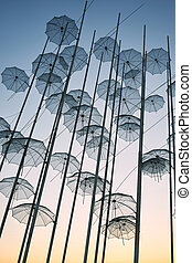 "The ""Umbrellas"" Installation at the new waterfront of..."