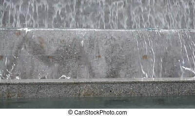 Fountain in the discharge water - Closeup of fountain in the...