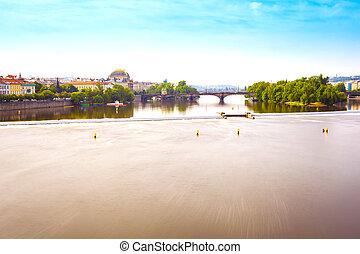Panorama of Prague from the Charles Bridge