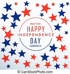 happy independence day with stars