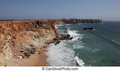 Atlantic Ocean coast, Algarve - Atlantic Ocean coast near...