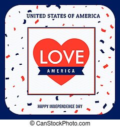 love america background illustration
