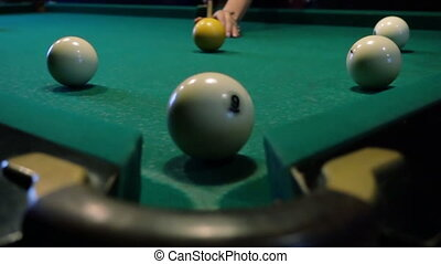 Pool Game, The Ball Gets In The Pocket