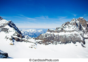 Aerial view of Swiss Alps - Aerial view of the Alps...