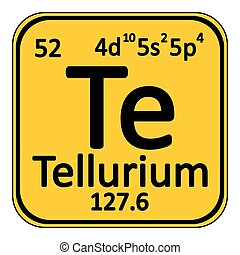 Periodic table element tellurium icon. - Periodic table...