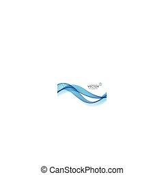blue smoky wave background made with lines