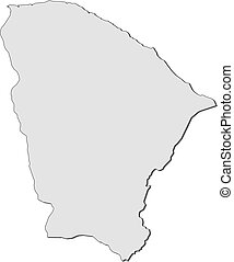 Map - Ceara (Brazil)