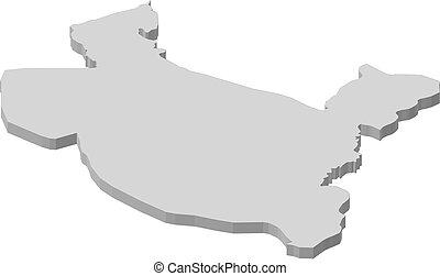 Map - Salah ad Din (Iraq) - 3D-Illustration