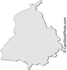 Map - Punjab (India) - Map of Punjab, a province of India.