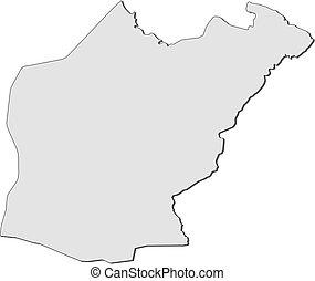Map - Ninawa (Iraq) - Map of Ninawa, a province of Iraq.