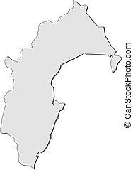 Map - Taranaki (New Zealand) - Map of Taranaki, a province...