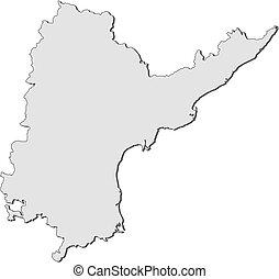 Map - Andhra Pradesh (India) - Map of Andhra Pradesh, a...