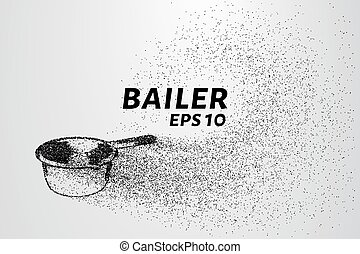 Bailer of particles. Bailer consists of circles and points....