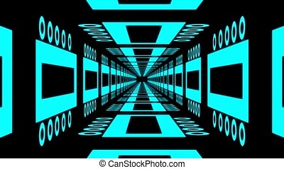 Abstract background - Endless tunnel with different...