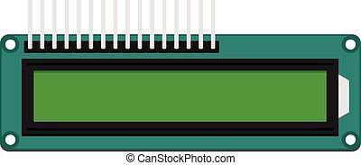 DIY electronic LCD board