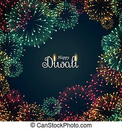 beautiful fireworks background for diwali festival