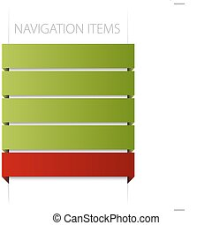 modern navigation items