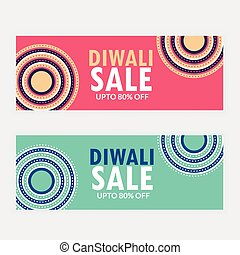 two diwali sale banner vouchers for your brand