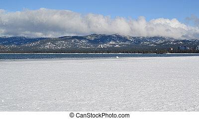 Frozen Lake Tahoe