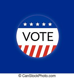Voting concept by USA vote logo 2016