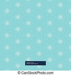 blue background with flower pattern