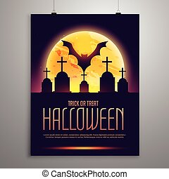 halloween flyer invitation template