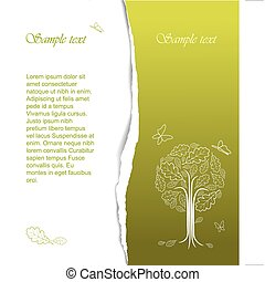 Vintage abstract stylized tree drawing